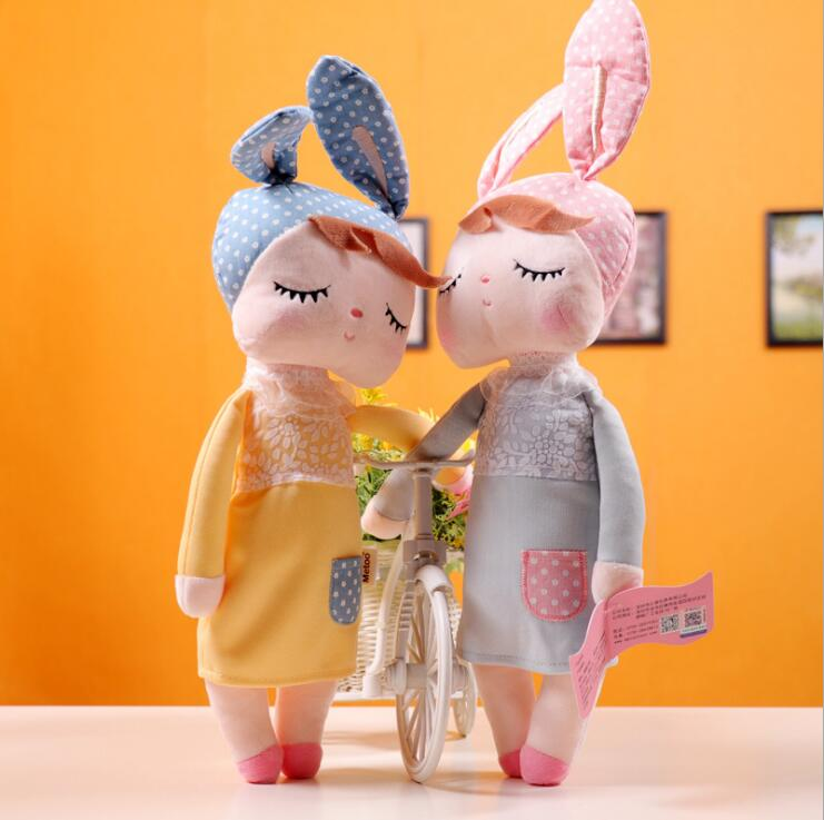Metoo Doll Angela Stuffed Toys Plush Animals Toys Baby Sleep Cartoon Angela Rabbit Soft Toys