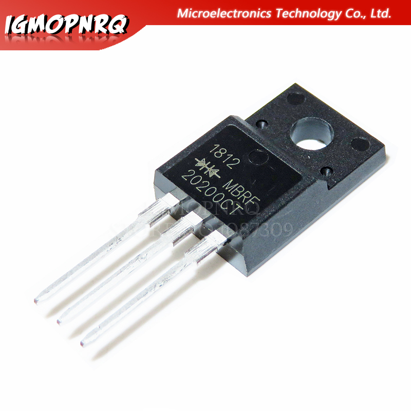 10pcs MBRF20200CTG MBRF20200CT MBRF20200 20200CTG B20200G 20A/200V TO-220F Schottky Diode