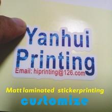 matt (glossy) laminated sticker label for packing box  printing