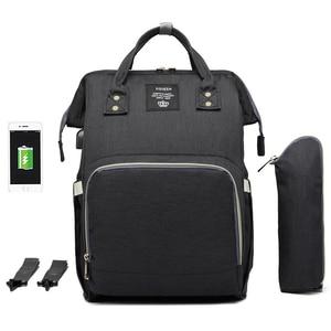 Image 5 - 기저귀 배낭 가방 엄마 대용량 가방 엄마 베이비 다기능 방수 야외 여행 기저귀 가방 베이비 케어