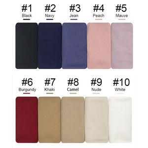 Image 2 - Premium Rippen Jersey schal hohe qualität winter frauen muslimischen stretchy hijabs
