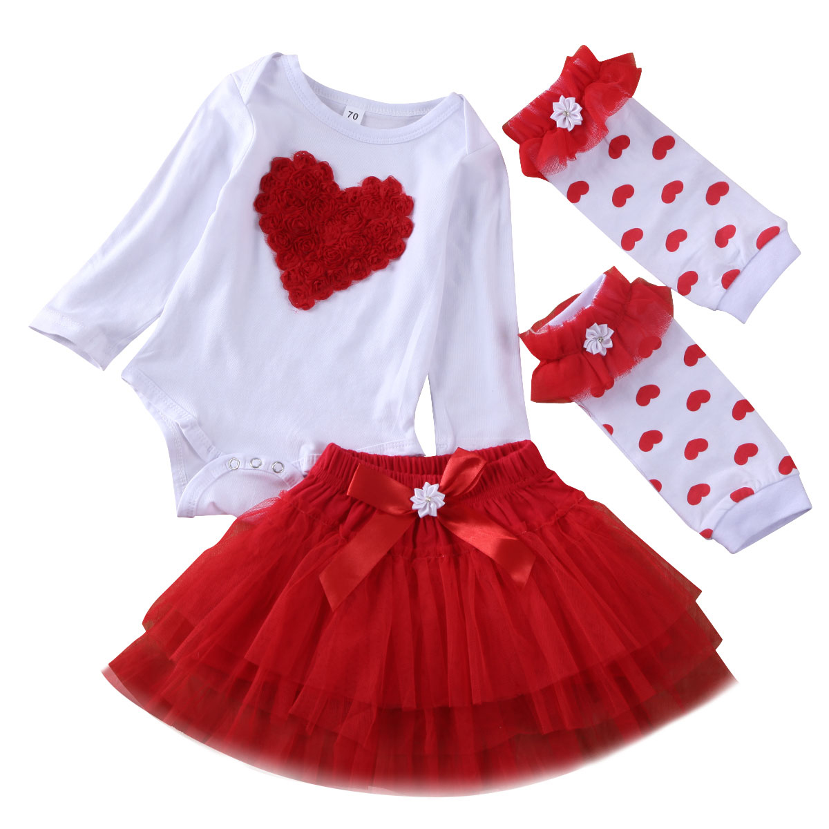 """US For 0-18M /""""My First Valentine/'s Day/"""" Newborn Baby Romper Sock Pants Outfits"""