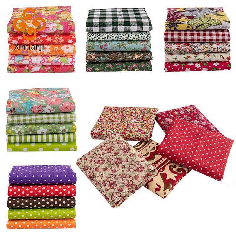 25x25cm /Pc Vintage Printed Patchwork Fabrics Doll Handmade Accessories Floral Cotton Fabrics For DIY TJ0537-2-0