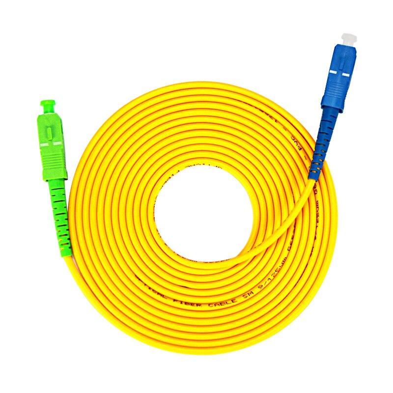 10 Pieces/ Lot SC/ APC-SC/ UPC SIngle Mode Simplex Fiber Optic Jumper Cable  3.0mm FTTH Fiber Optic Patch Cord Cable