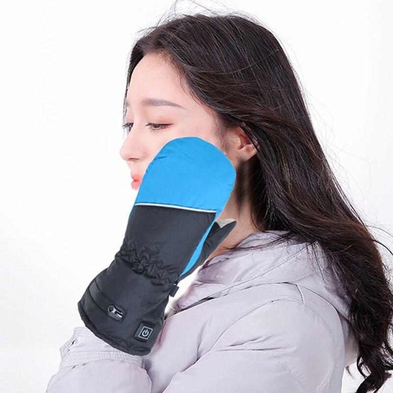 Elos-luvas de aquecimento elétrico feminino recarregável isolado
