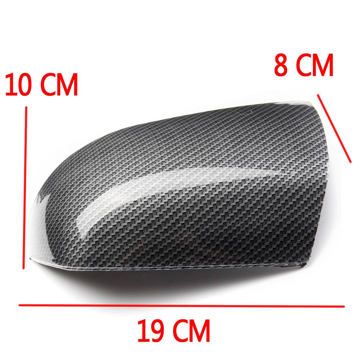 Pair Left Right Front Carbon Fiber Side Door Wing Mirror Cover Caps For Ford for Focus Mk.2 2005 2006 2007 2008 replacement part