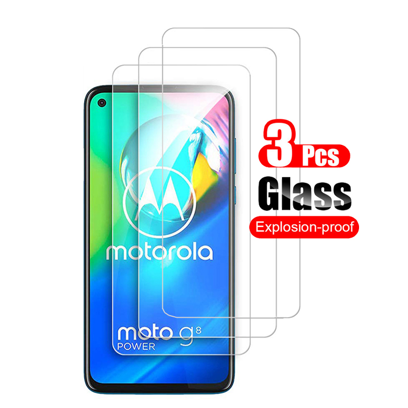 3Pcs Tempered Glass For Motorola Moto G8 G8 Play Screen Protector For Motorola Moto G8 Power Plus Protective Glass Film 9H