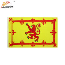 Flagnshow Scotland Rampant Lion Flag 3X5 FT Hanging Royal Banner of Scottish Flags Polyester Free Shipping for Decoration