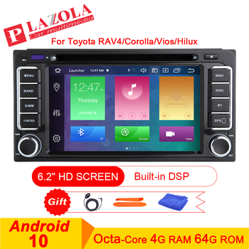 AutoRadio 2 din Android 10 Car Stereo DVD GPS Player For Toyota Land Cruiser Corolla RAV4 Hilux Prado Vios 4 Runner 2000-2006 image