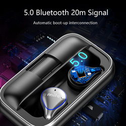 Bluetooth 5.0 Wireless Earbuds Balanced Bluetooth Earphone Waterproof Sport Stereo Sound Earphones Charging Box