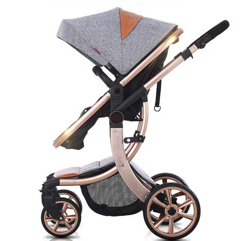 Aimile Baby Stroller 2 In 1 High Landscape Multifunctionc Can Sit Or Lie Folding Four Seasons