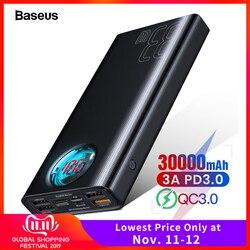 Baseus 30000mAh Power Bank USB C PD Quick Charge 3.0 30000 mAh Powerbank For Xiaomi iPhone 11 Portable External Battery Charger