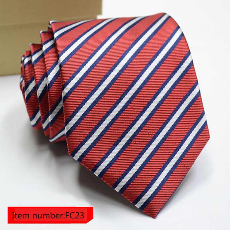 Классический мужской деловой официальный Свадебный галстук 8 см полоса шеи галстук модное платье-рубашка аксессуары Прямая доставка