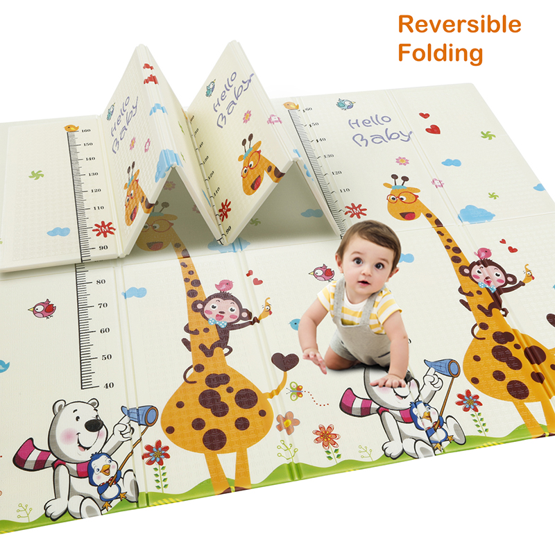 Beiens Baby Play Mat Baby Gym Puzzle Mat Kids Developing Carpet Children Room Crawling Toys EVA Foam Rug Foldable Sleepmat