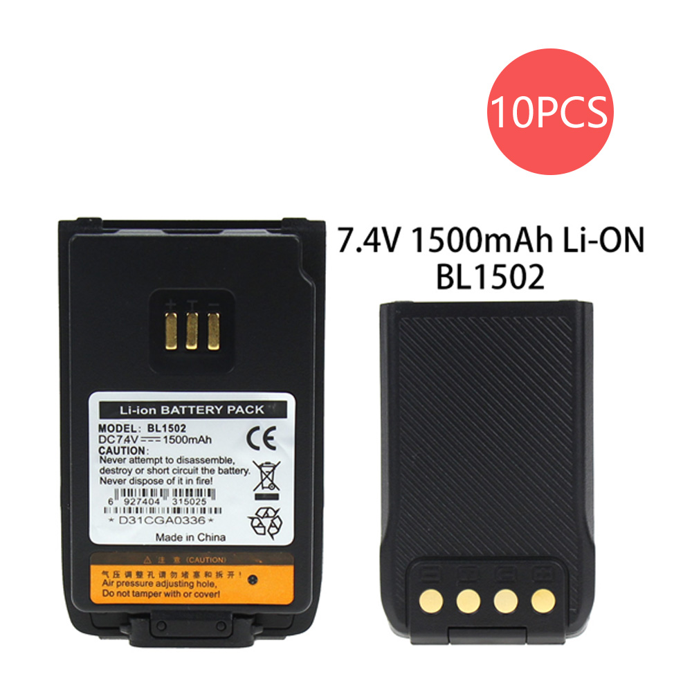 10X Replacement Battery Part No.BL1502 BL1504 BL2010 For HYT PD606 PD606G PD662 Two-Way Radio