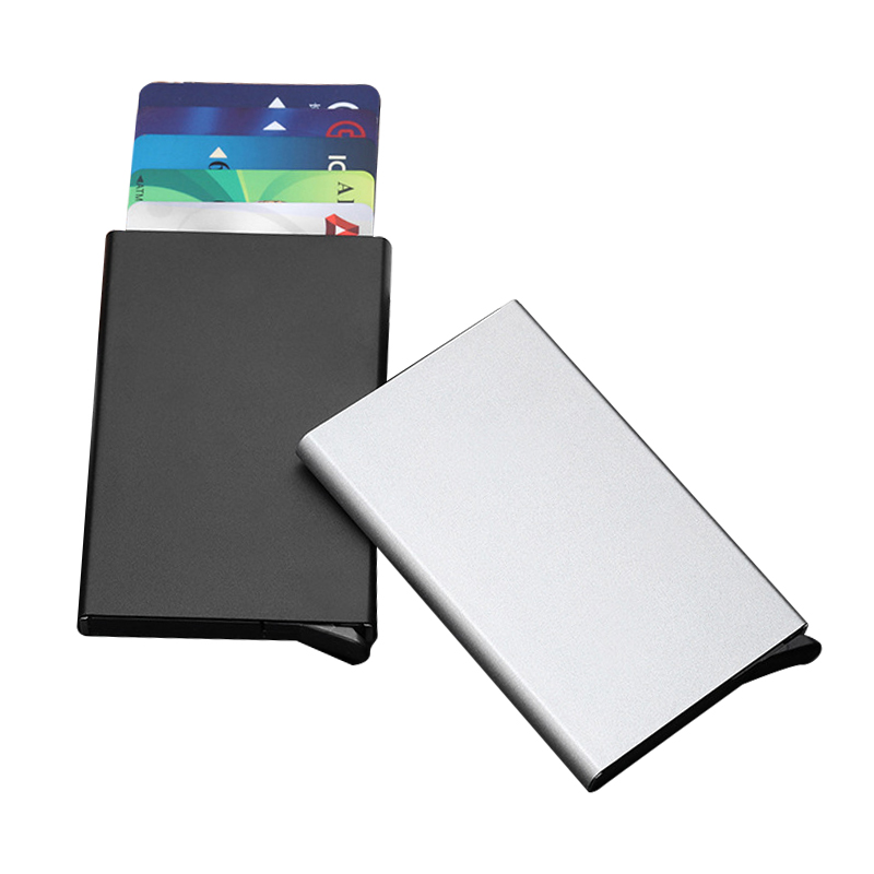 Metal Credit Card Holder Metallic Men Women Slim Anti-theft Protect ID Cardholder Mult-card Holder RFID Blocking Wallet