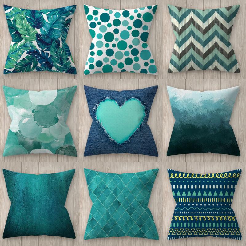 45*45cm Square Decorative Throw Pillow Case Geometric Striped Print Flower Pillowcase For Home Bedroom Home Office Decorative|Decorative Pillows| |  - title=