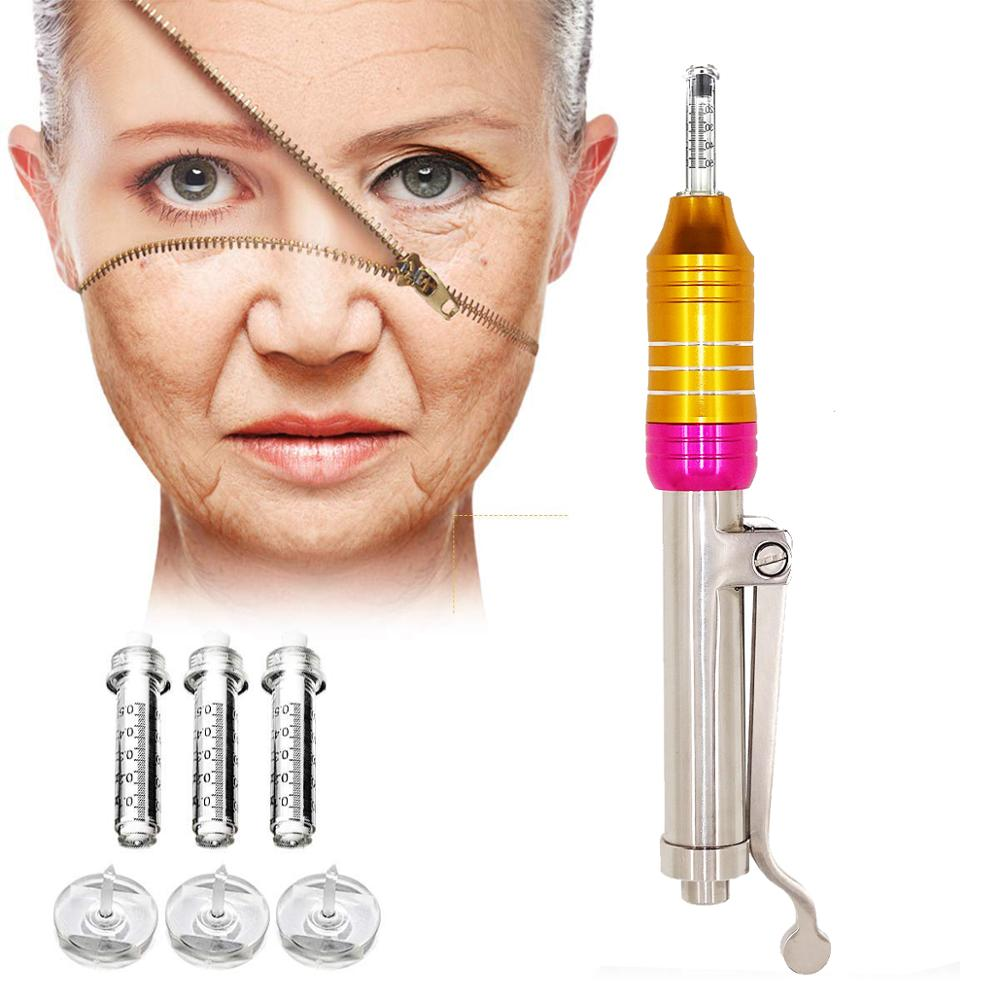 High Pressure Hyaluronic Pen Gun Massage Atomizer Pen Injection Kit Acid Micro Guns Anti Wrinkle Lip Filler Lip Lifting