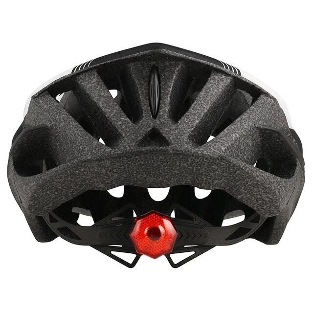 Ultraleve estrada mountain bike capacete com luz traseira das mulheres dos homens equitação ao ar livre capacete de ciclismo esportes xc dh mtb capacete da bicicleta 5