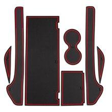 New Arrival Gate Slot Cup Mat For Tesla Model X Door Groove Non-slip Pad 7 PCS/Set Accessories Cup Holders PVC Door Groove Mat цена 2017
