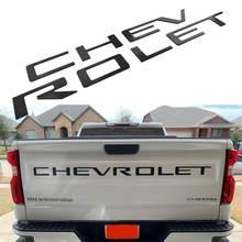Lettre d'insertion de hayon 3D pour Chevrolet Silverado 2019 – 2020, rainure arrière de voiture, emblème de lettre à forte absorption