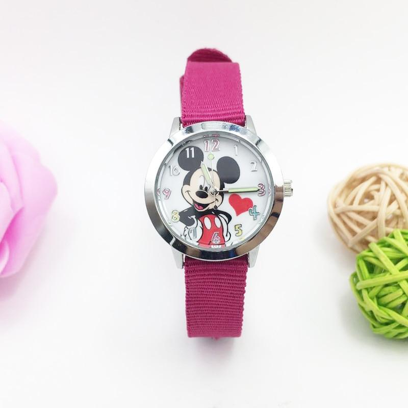 Cute Mickey Mouse Children Watches Boys Girls Cartoon Wristwatch Girl Fashion Quartz Watch Kids Luminous Hands Clock Reloj Niño