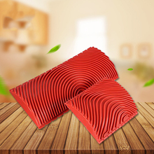 Rubber Paint Roller Cylinder Imitation Wood Grain Brush Wall Texture Art DIY Painting Tool Set