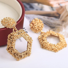 Vintage Boho Drop Earrings For Women Gold Color Geometric Statement Earring 2019 Gold/Silver/Rose Earing Fashion Jewelry