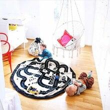 Neugeborenen Abenteuer Spiel Lagerung Spielzeug Auffangbeutel Decke Baby Strasse Track Klettern Matte Kleinkind Abdeckung Entwicklung INS Teppichboden
