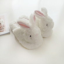 2019 New Cute Plush Shoes Doll Fit American Girl Doll Accessories Pink Rabbit Slippers plush animal head rabbit slippers kaws prototype plush doll doll 16 inch kaws bff pink rabbit fashion doll originalfake brian street art action figure collectible