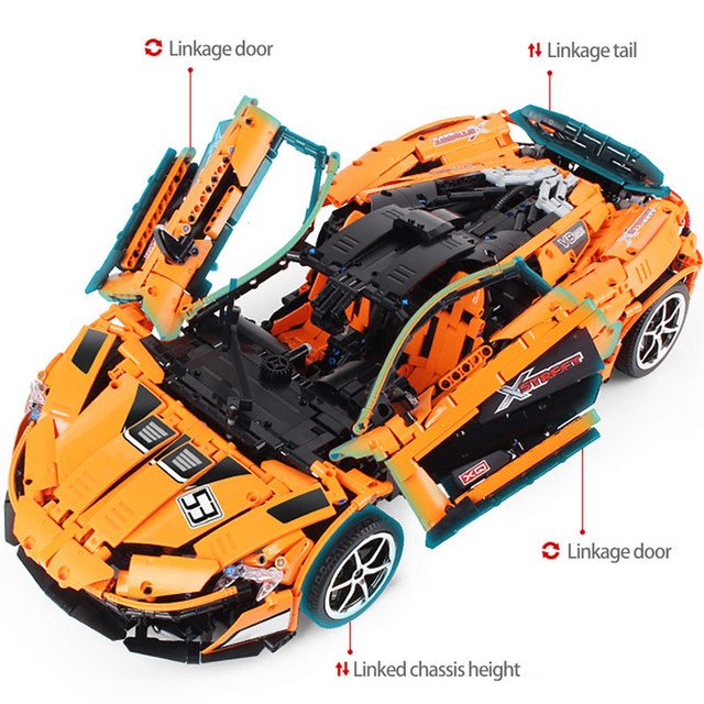 The MOC McLaren P1 Speed Car App RC/non-RC Motor Car Building Blocks For Technic Racing Car Bricks Toys For Children