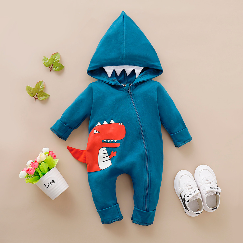 baby girl clothes baby   romper   baby girl   romper   winter pudcoco halloween costume jumpsuit onesie kombin Cartoon Dinosaur 0-24m Z4