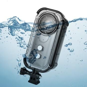30 M 90FT wodoodporna obudowa ochronna podwodna obudowa do nurkowania Insta360 ONE X kamera akcji do aparatu Insta360 ONE X tanie i dobre opinie NoEnName_Null Wodoodporne Obudowy EACHSHOT Insta360 Underwater case