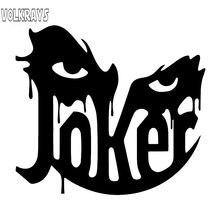 Volkrays calcomanía del coche de personalidad accesorios de cara de Joker cubierta impermeable reflectante rasguños Horro calcomanía de vinilo, 13cm * 14cm