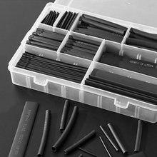 385 шт./кор. полиолефина сокращения различные изолированные кабельные наконечники трубки комплект трубок термоусаживаемой трубки Обёрточна...