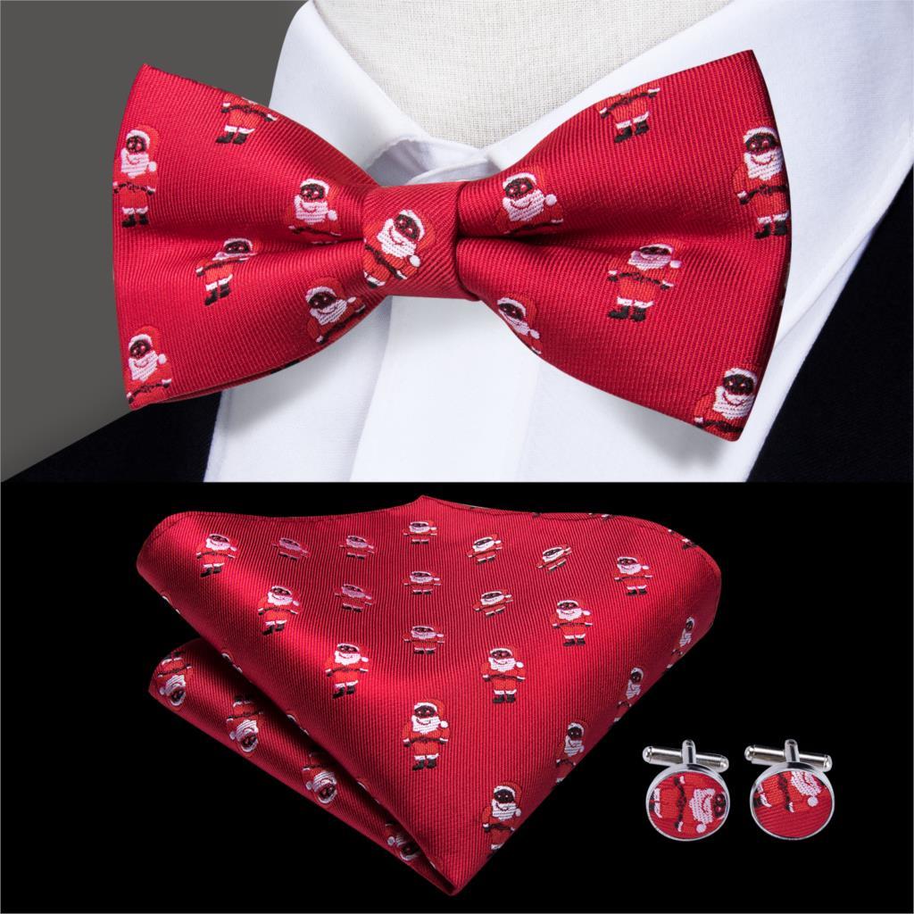 Men/'s Necktie Christmas Style Patter Print Tie Decor Xmas Party LH