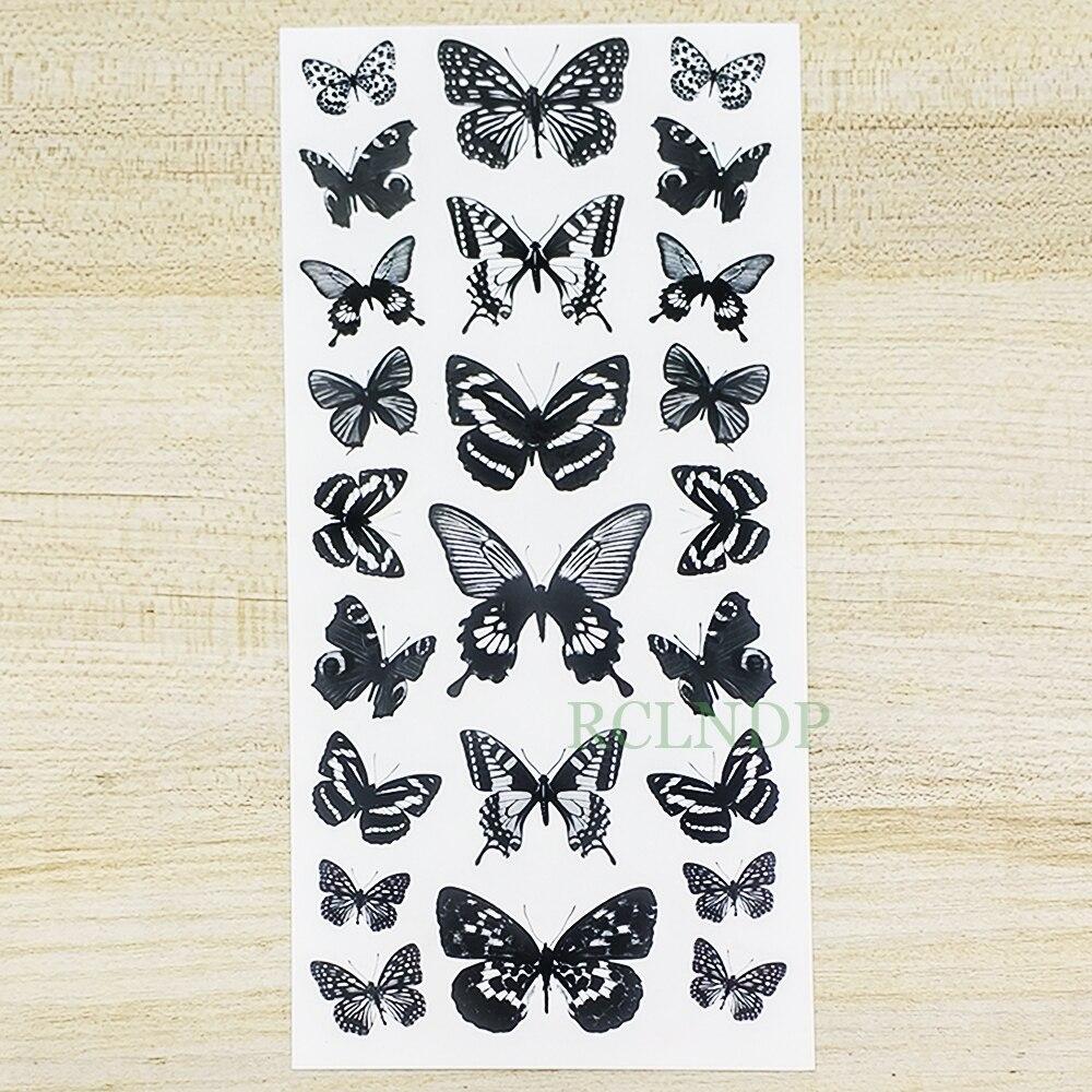 Waterproof Temporary Tattoo Sticker Butterfly Fake Tatto Flash Snake Feather Tatoo Body Art Tatouage for Girl Women Men