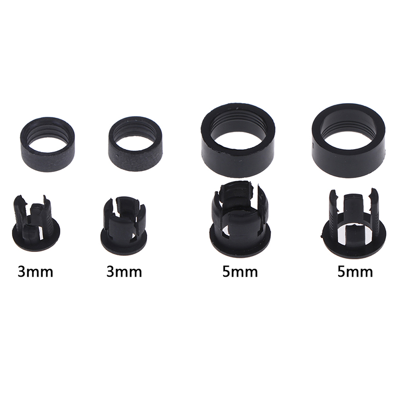 20Set Hot New 3mm/5mm Plastic LED Holders Clips-Bezels Mounts Cases With Outer Ring Tool Parts Good Quality