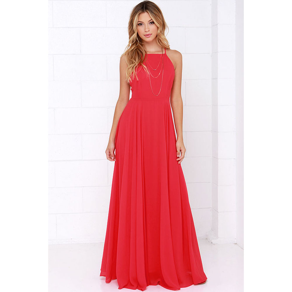 Women Plus Size Party Strap Fashion Bahemian Beach Chiffon Backless Dress Sexy Sleeveless Off The Shouder Maxi Dresses New 2020