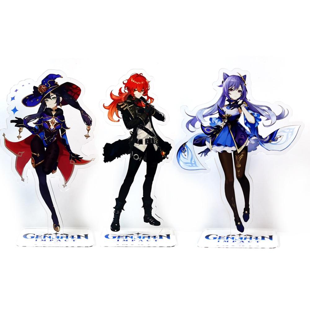 Genshin Impact персонажи уменьшения кецин Мона GM акриловая подставка фигурка модель пластина Держатель Топпер аниме