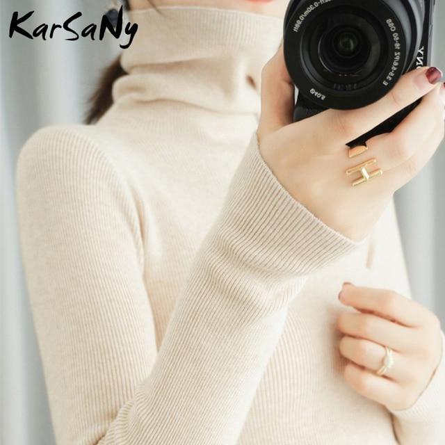 Women's Sweater Winter Clothes Women 2020 Black Turtleneck Sweaters Winter Warm Turtlenecks For Women Pullover Sweater Autumn 4