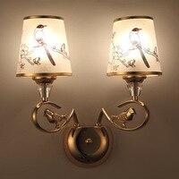 Alte Stadt Wand Lampe Neue Stil Europäischen Stil Top Grade Gold Ton Kristall Wand Lampe Wohnzimmer Warme Wand lampe Kreative Bedsid|Einbauleuchte|   -
