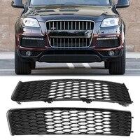 Amortecedor dianteiro do carro luz de nevoeiro grille capa para audi q7 s linha 2009 2015 4l0807697b Grades de corrida     -