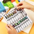 Pintura acrílica 12/18/24/36 cor iniciante pintado à mão parede cor conjunto acrílico 12 ml diy pigmento arte suprimentos