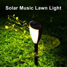 2 Pcs Music On The Lawn Lights Christmas Solar Light LED Grass Light Sound and Light Outdoor Waterproof Lamp