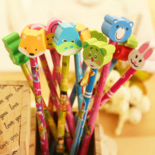 creative company gifts with rubber eraser school hb pencil stationary Pupils prizes birthday cute gifts(China)