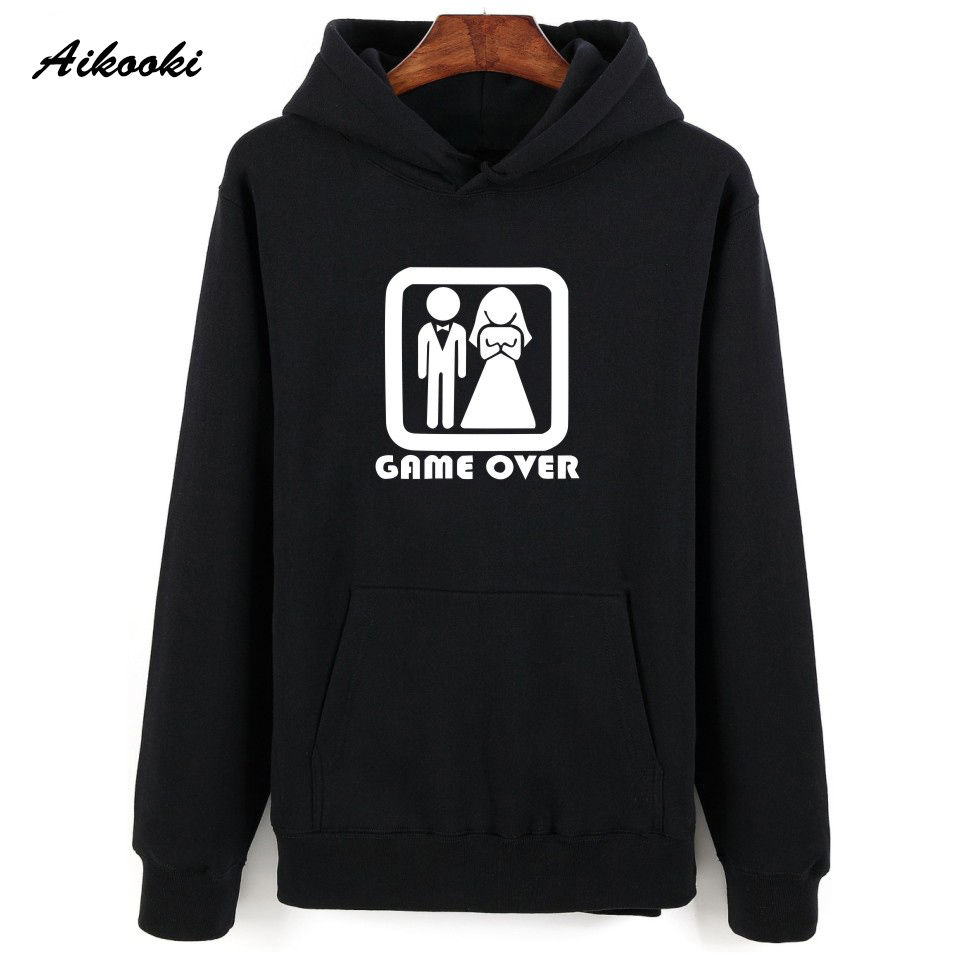 Buy High Quality Problem Solved Hooded Style Autumn Hoodies Men Women Streetwear Boys Hoodies Sweatshirts GAME OVER Funy Coats for only 19.89 USD