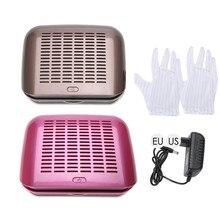 68w coletor de pó de sucção do prego ventilador de energia forte aspirador de pó máquina manicure equipamento do salão de beleza da arte do prego eua/ue plug 100-240v