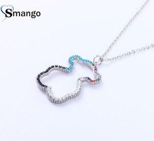 Женское модное популярное ожерелье в форме медведя, жемчужное циркониевое ожерелье, четыре цвета на выбор, изысканная подарочная коробка