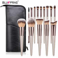 BLUEFRAG Bilden Pinsel Hohe Qualität 6-14 Make-Up Pinsel Set Mit Reisetasche Pulver Erröten Lidschatten Concealer Lip auge Schönheit Werkzeug